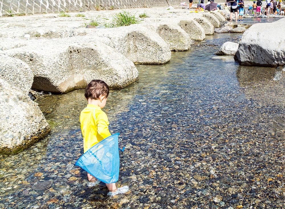 田舎体験 川遊び